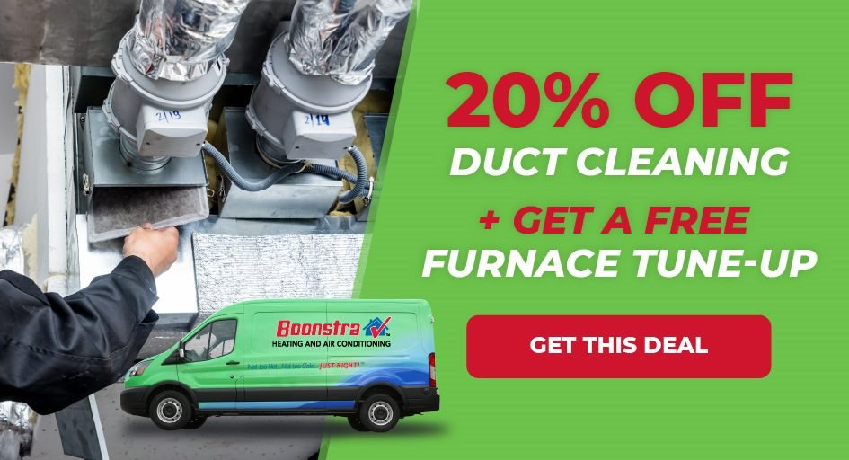 20 percent off duct cleaning plus free furnace tune-up