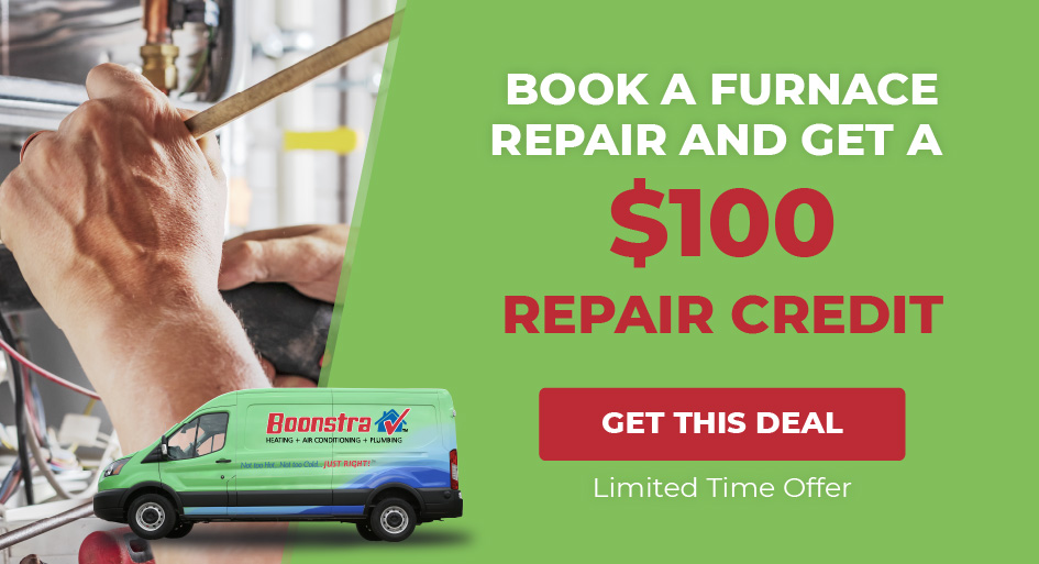 Get a $100 Furnace Repair Credit