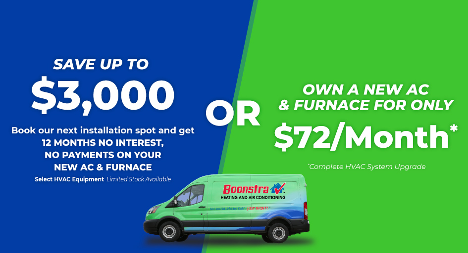 Own a New AC and Furnace With No Payments for the First Year OR for $72/Month
