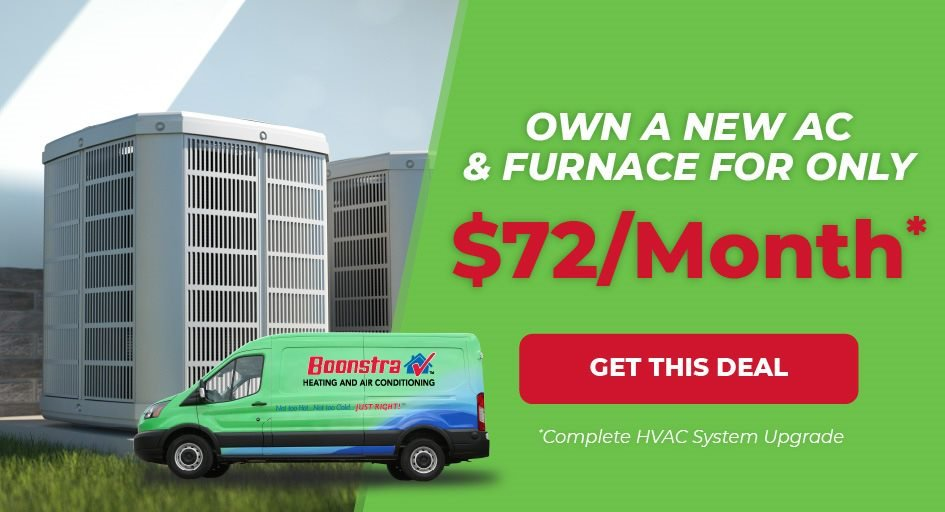 Own a New AC and Furnace for $72/Month