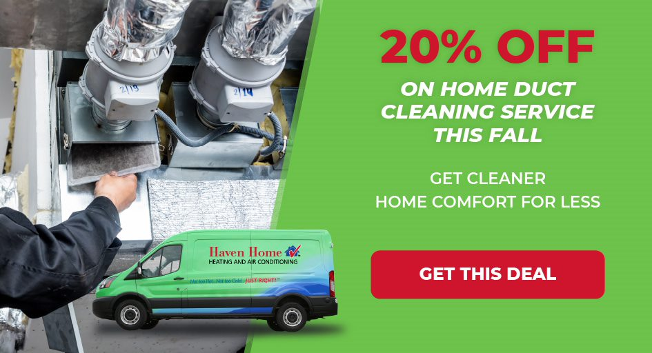 Save 20 percent on home duct cleaning