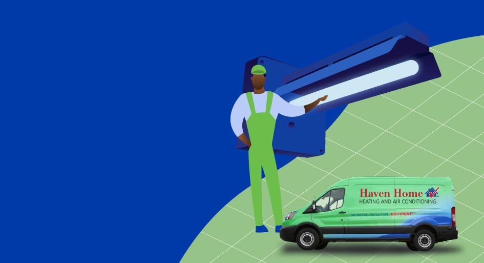UVC Air Purification System Illustration