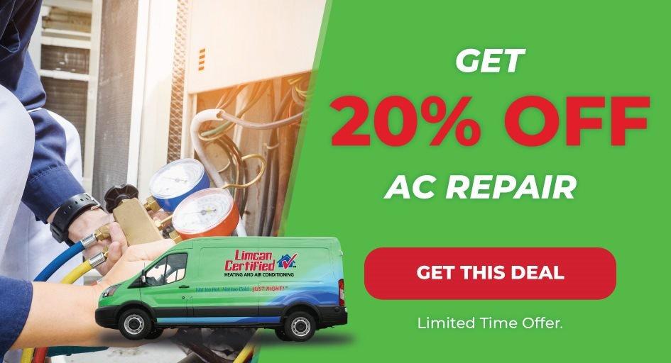 20 percent off furnace repair