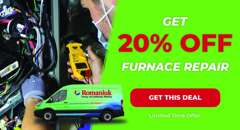 Save 20% on home furnace repair in Edmonton & area