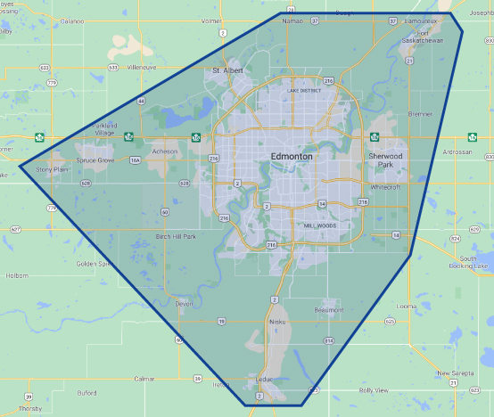 Romaniuk Edmonton service map